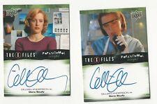 Gillian Anderson X Files Ufos & Aliens Paranormal Script Autograph Card Set Lot