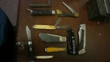 LOT OF 10 POCKET KNIVES PARTS OR REPAIR VARIOUS ISSUES BROKEN BLADE CRACKED CASE