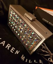 Karen Millen GL134 Silver Encrusted   Clutch Bag - LIMITED EDITION!! BNWT!!
