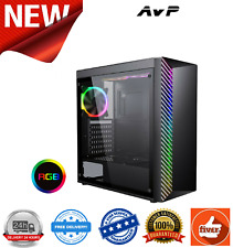AvP Kolus Black Mid Tower Case With RGB Front Panel Acrylic Side Panel