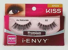 (LOT OF 4)  I ENVY BY KISS Strip false eyelashes Black AU NATURAL 02 KPE09