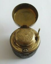 Antique Russian Federation Military travel inkwell marked 'K. K PRIV'.