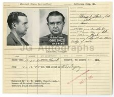 Police Booking Sheet - Forgery - Jefferson City, Missouri, 1942