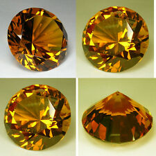Huge Brilliant Round (80 mm) Lab Yellow Diamond Crystal AAA D13