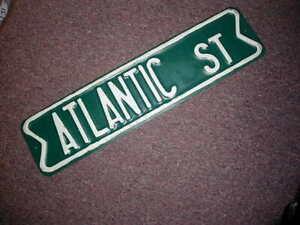 "7301 SS Salmon 4/"" x 18/"" Novelty Street Sign Aluminum"