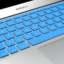 Ultra Thin Soft Blue Silicone Keyboard Cover Skin for Macbook Air 11 11.6 Inch