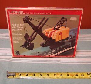 VINTAGE LIONEL #9158 PC FLAT CAR & STEAM SHOVEL w/ ORIGINAL BOX-ASSEMBLED