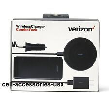 Verizon OEM Combo Pack/Lightning MFI Car + Wall + Wireless + Power Bank Charger