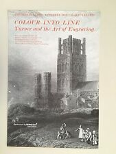 TURNER AND THE ART OF ENGRAVING, EXHIBITION PRINT 1989 TATE GALLERY