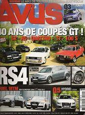 AVUS 10 AUDI RS4 200 TURBO A6 AVA Q3 2.5 TFSI RS6 MTM 742CH 24H DU MANS DKW F102