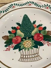 Midwest Cannon Falls Kathy Orr Topiary Fruit Plate Vintage