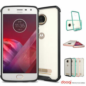 Dooqi For Motorola Moto Z2 Play Soft TPU Shockproof Bumper Clear Case Cover