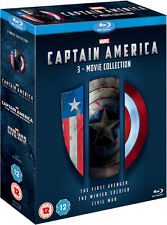 Captain America 1-3 Boxset (Blu-ray) *BRAND NEW*