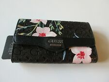Guess Signature Modesto SLG Black Multi Bi-Fold Wallet With Outer Slip Pocket