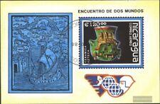 Nicaragua Blocco 181 (completa Edizione) usato 1988 OGGETTI D'ARTE
