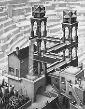 Escher # 01 cm 35x50 Poster Stampa Grafica Printing Digital Fine Art papiarte