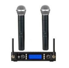 Cordless Microphones for Church Uhf Professional Wireless Microphone 2 Handhelds