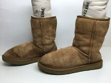 *4 WOMENS UGG AUSTRALIA WINTER SUEDE BROWN BOOTS SIZE 11
