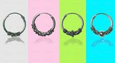925 Sterling Silver Small Bali Rope Twist Hoop Sleeper Earring Hoop(pair)12-14mm