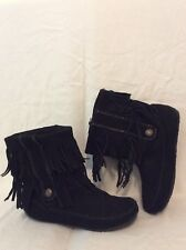 Animal Black Ankle Suede Boots Size 5