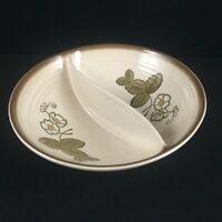 VTG Divided Vegetable Bowl Metlox Poppytrail California Strawberry Pottery USA