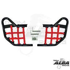 Warrior YFM 350 YFM350  Nerf Bars   Alba Racing Black Bar Red nets     210 T1BR
