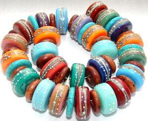 "Sistersbeads ""J-Mojave"" Handmade Lampwork Beads"