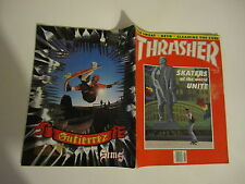 THRASHER SKATEBOARD MAGAZINE FEBRUARY 1989 POWELL HOSOI GRABKE PHILLIPS 89 CUBE