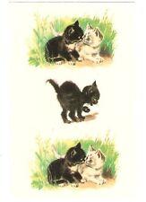 Estampado schiebebild gatos (Black & White Cat) sb 1 16876, DDR 1990