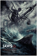 Jaws Movie Poster Screen Print Karl Fitzgerald Limited Edition Bottleneck Vice