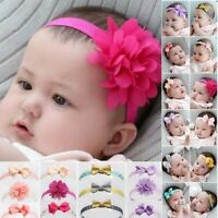 3Pcs Cute Kids Girl Baby Chiffon Toddler Flower Bow Headband Hair Band Headwear