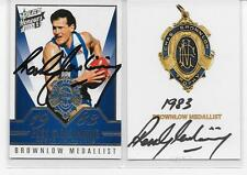 BROWNLOW GALLERY  / BROWNLOW  MEDAL CARDS SIGNED BY ROSS GLENDINNING