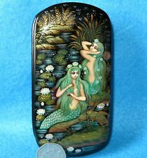 Meerjungfrau Lack Verpackung Russisch Kholui Kunst Orlova Handbemalt