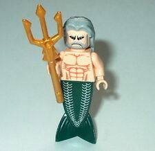 PIRATES #04 Lego King Neptune w/Trident Flesh NEW Merman Genuine Legos