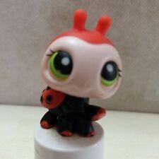 Littlest Pet Shop #221 Red Ladybug Black spots w/Green eyes USA seller 9 pics