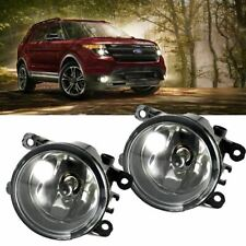 1× Fog Light Lamp with H11 Bulbs Driver Passenger Sides for Ford Explorer Fusion