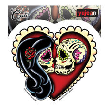 Ashes Red Heart Sugar Skull Lovers Sticker Decal Car Window Laptop Cali