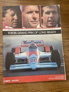 1986 Toyota Grand Prix Of Long Beach Cart/Indycar Racing Program