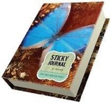 LOT OF 2 Sticky Notes Sticky Notepads 200 Lined Adhesive Pages BLUE BUTTERFLY