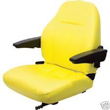 YELLOW HIGH BACK SEAT JOHN DEERE M653,M655,M665 ZTR, ZERO TURN LAWN MOWER #JK