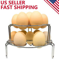 Egg Steamer Rack Trivet Stackable for Instant Pot 5/6/8 Qt Pressure Cooker 2PCS
