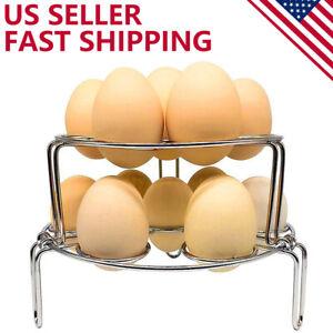 Egg Steamer Rack Trivet Stackable for Instant Pot 5/6/8 Qt Pressure Cooker 2PCS