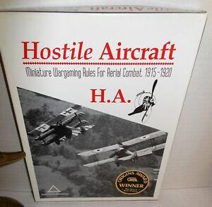 Boxed Miniature War Game WW1 Hostile Aircraft Aerial Combat 1915-20 op + Xtras