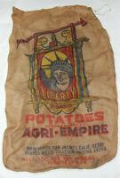 Arizona Statue of Liberty Brand 100lbs Agri-Empire Burlap Potato Sack Patriotic