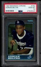 1997 Bowman Chrome Adrian Beltre PSA 10 Gem Mint #182 RC Graded Rookie Card HOF?