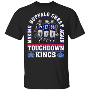 Men's Making Buffalo Bills Great Again Touchdown Kings Signatures T-Shirt S-5XL