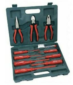 11PC ELECTRICIANS SCREWDRIVER SET ELECTRICAL TOOL FULLY INSULATED WITH BOX