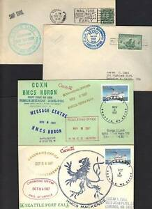 CANADA 1930-80's 4 PAQUEBOT POSTED AT SEA COVERS