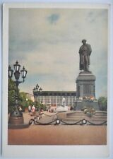 1962 Soviet Russia Moscow Monument to A.S.Pushkin PC