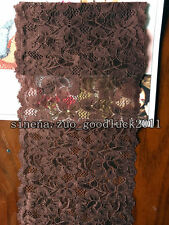 FP186 1 yard, Flower Stretch Lace Trim Ribbon Sewing Dress Skirt DIY Handicraft